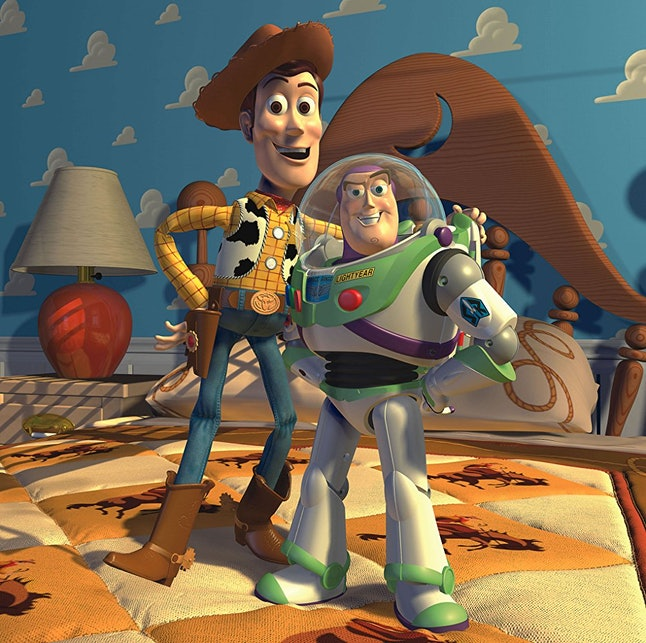 Woody and Buzz Lightyear, voiced by Tom Hanks and Tim Allen, were the stars of 'Toy Story'.