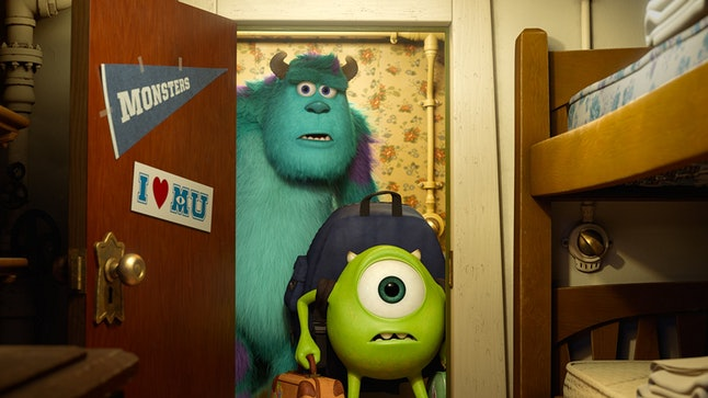 Mike and Sulley return as their younger selves in 'Monsters University'.