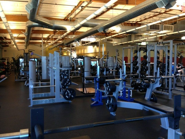 On-site fitness center at Genentech