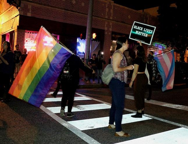 Protesters demonstrate in St. Louis in honor of Kiwi Herring.