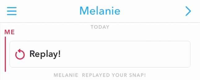 When a user replays a private snap, Snapchat alerts the sender.