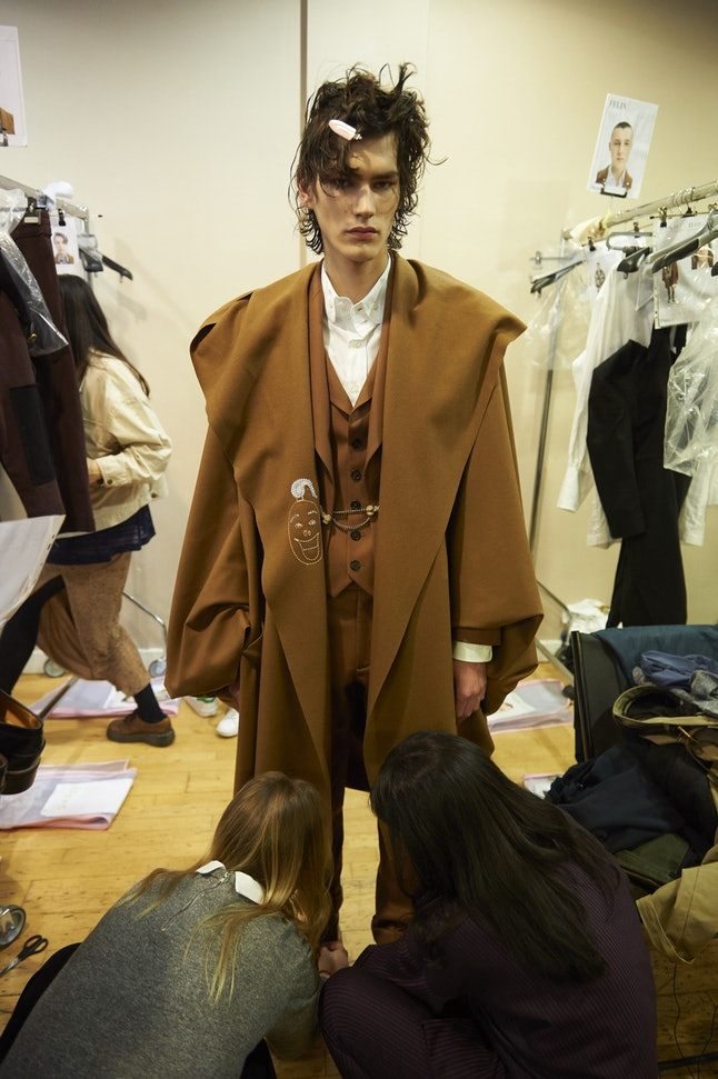 A model at the Vivienne Westwood show