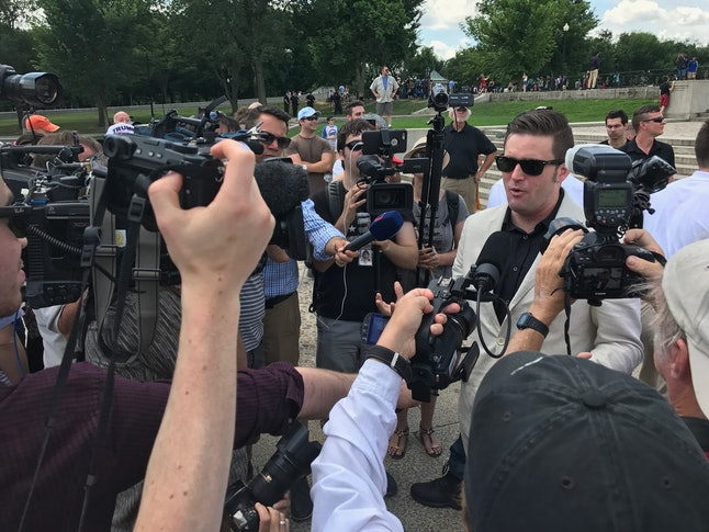 White nationalist Richard Spencer was the main attraction at the Lincoln Memorial rally.