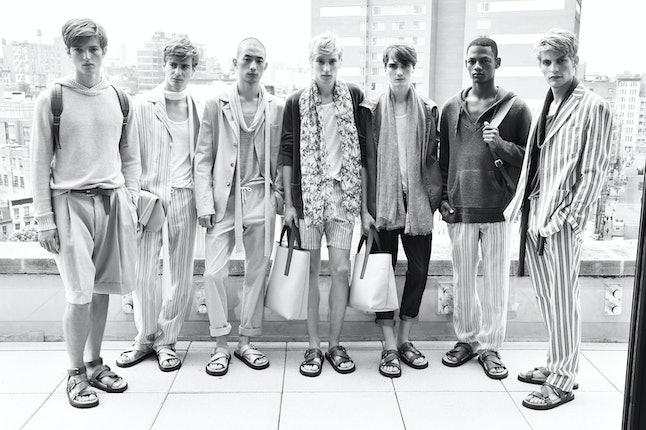 Models at Michael Kors' Spring 2016 presentation at New York Fashion Week