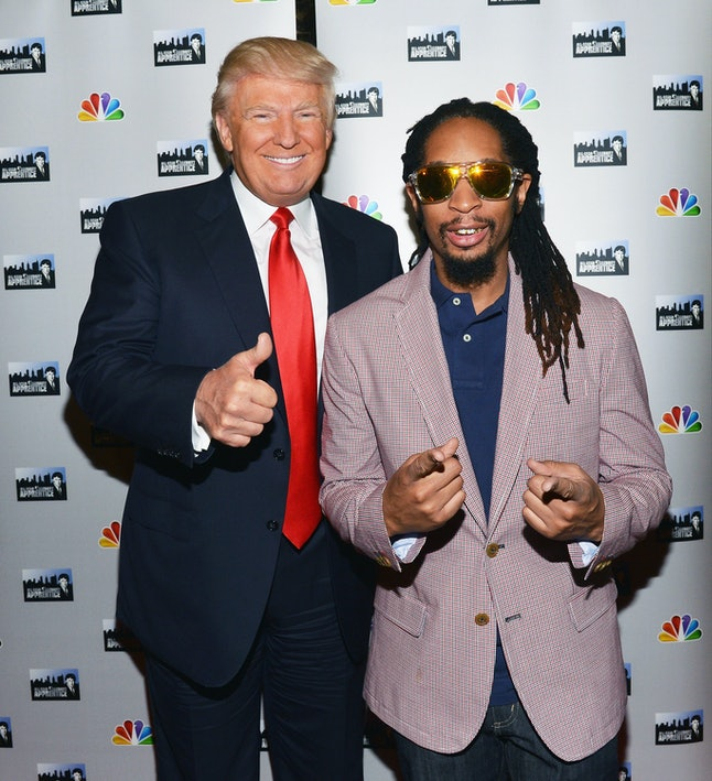 Donald Trump and Lil Jon promoting 'All-Star Celebrity Apprentice'