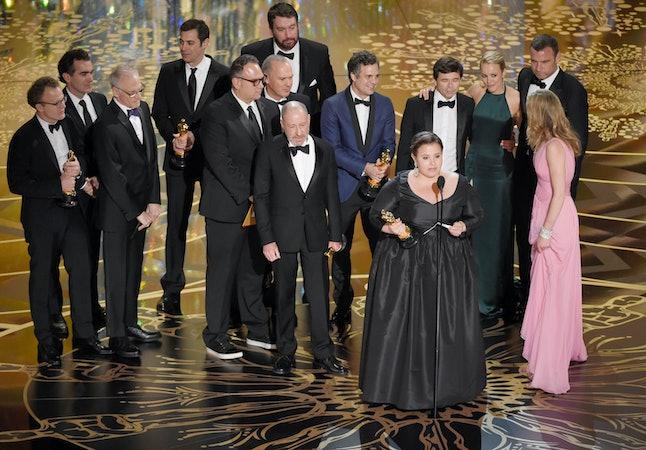 The 'Spotlight' team at the Oscars.