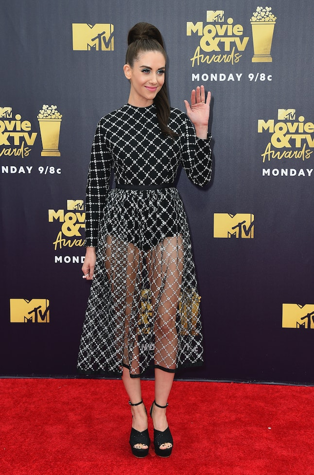 Alison Brie at the 2018 MTV Movie and TV Awards