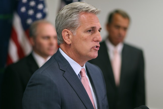 Kevin McCarthy delivers brief remarks during a news conference on June 10 in Washington, D.C.