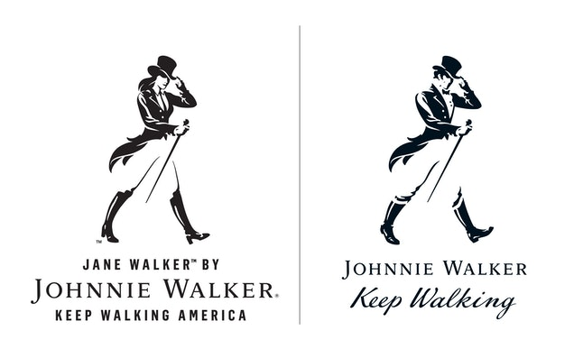 Jane Walker (left) is a fictional character that will appear on limited-edition Johnnie Walker bottles.
