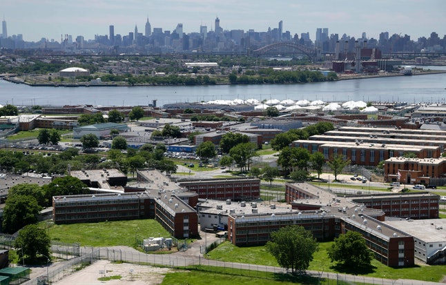 Rikers Island jail complex in New York City houses teenagers, and has come under fire from criminal justice reform advocates.