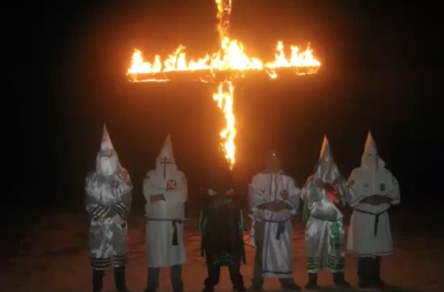 This is one of the images from a video the local Ku Klux Klan sent to Lea Campbell.