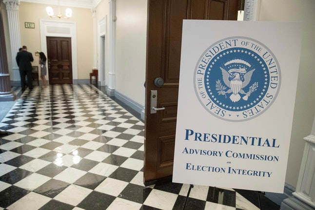 The first meeting of the Presidential Advisory Commission on Election Integrity was held at the Eisenhower Executive Office Building in July.