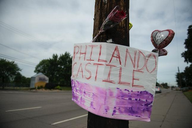A memorial in honor of Philando's death