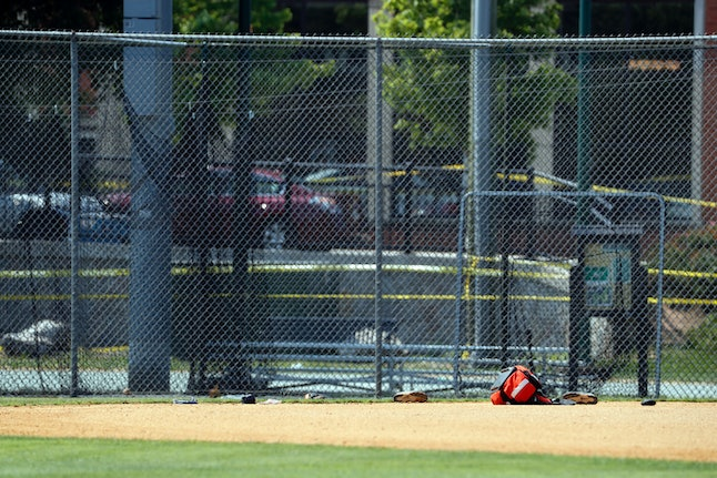 The baseball field in Alexandria, Virginia, where House Majority Whip Steve Scalise and others were shot during a congressional baseball practice on Wednesday morning.