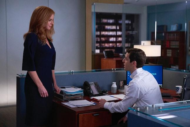 Sarah Rafferty as Donna and David Reale as Benjamin