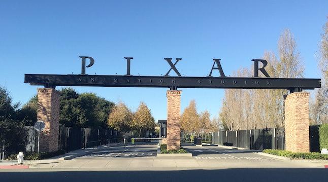 The gates to Pixar's campus in Emeryville, California, on Nov. 29, 2016