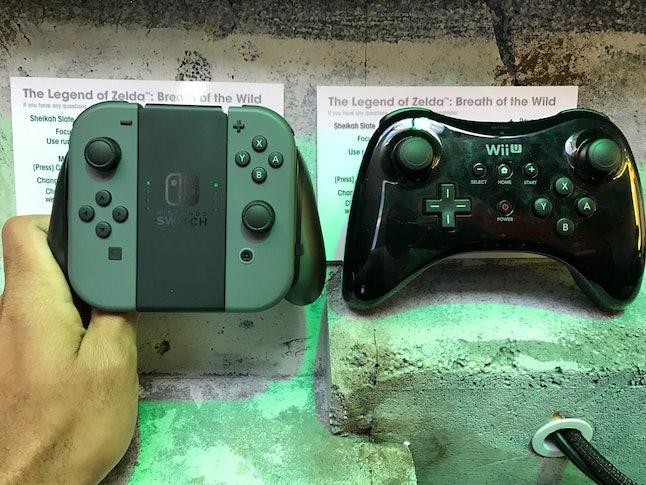 Joy-Con Grip versus Wii U Pro Controller