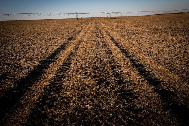 Farmland in Nebraska along the proposed pipeline