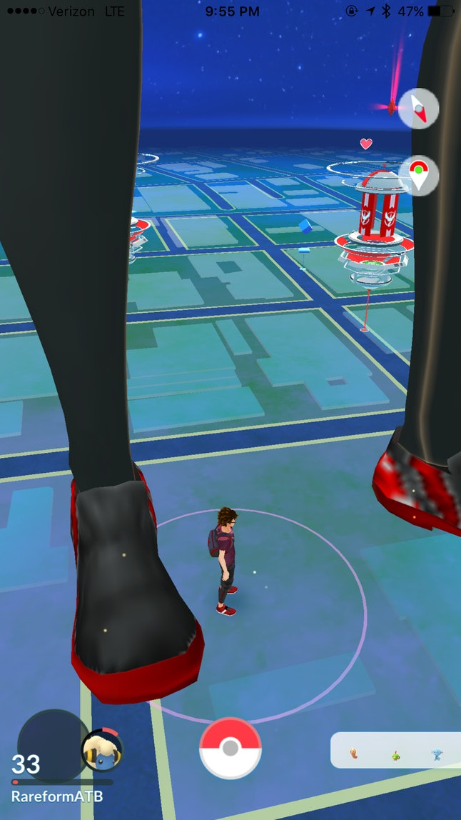 "This second ""giant trainer"" picture helped explain why they're showing up in peoples' games."