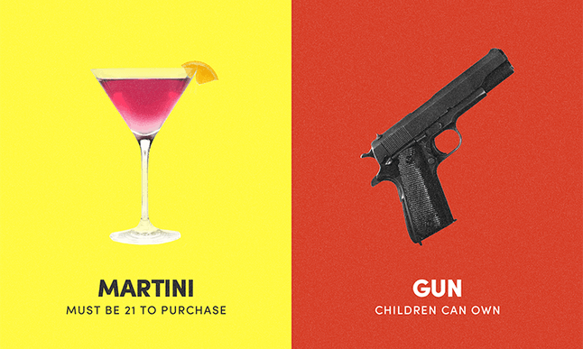 It's harder to get a drink than a gun.