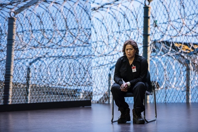 Anna Deavere Smith performing 'Notes From the Field'