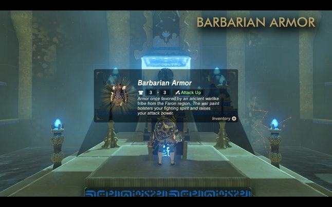 Your reward for beating Dila Maag Shrine is another piece of the Barbarian set and another Spirit Orb.
