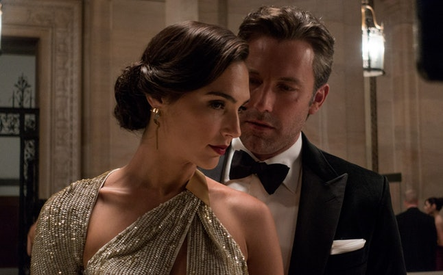Ben Affleck and Gal Gadot as Bruce Wayne and Diana Prince, respectively, in 'Batman v Superman: Dawn of Justice.'