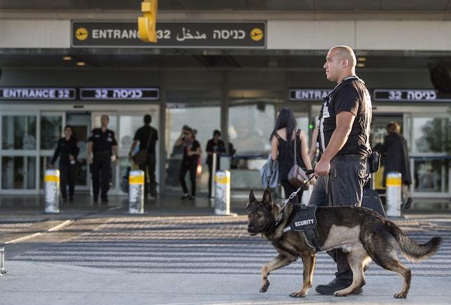 Security at Israels Ben Gurion International Airport.