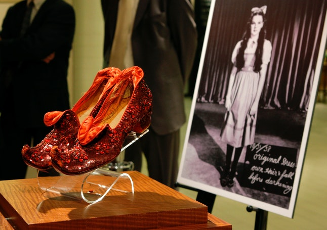 The ruby red slippers once owned by Debbie Reynolds