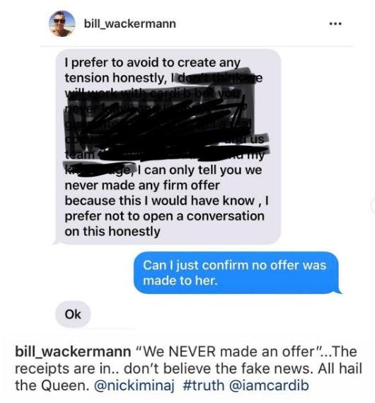 Bill Wackermann's now-deleted Instagram post