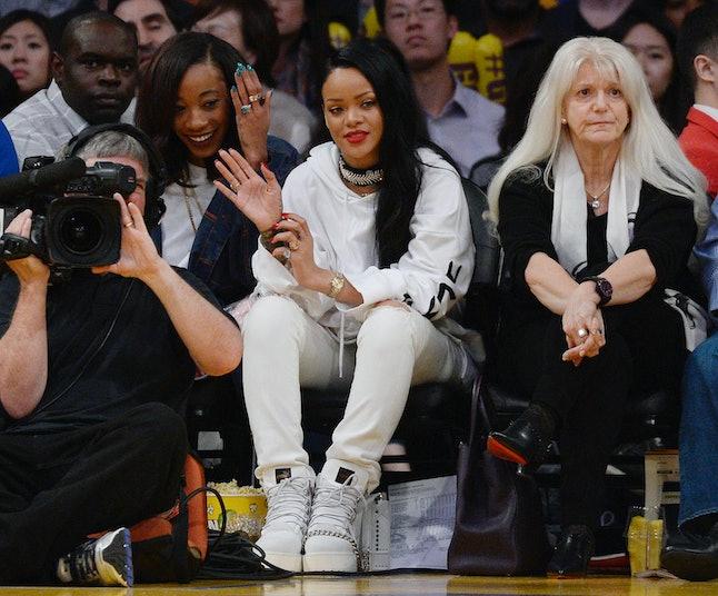 Rihanna at a LA Lakers game in 2016