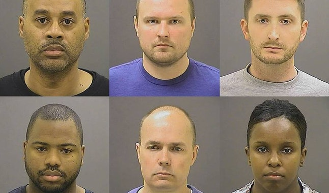 The six Baltimore officers facing charges for the death of Freddie Gray in April