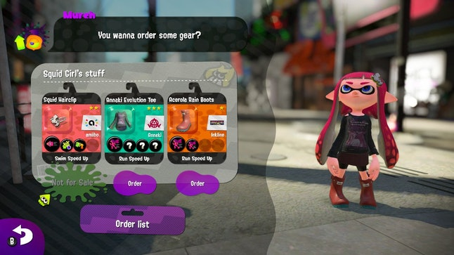 Some items, like the hair clip pictured above, can only be obtained through amiibo.