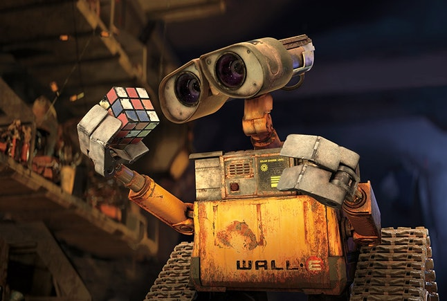 The lonely titular robot in 'Wall-E'
