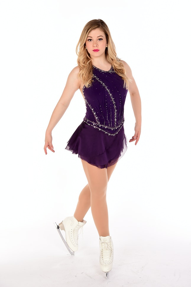 Figure skater Gracie Gold poses for a portrait during the Team USA Pyeongchang 2018 Winter Olympics portraits.