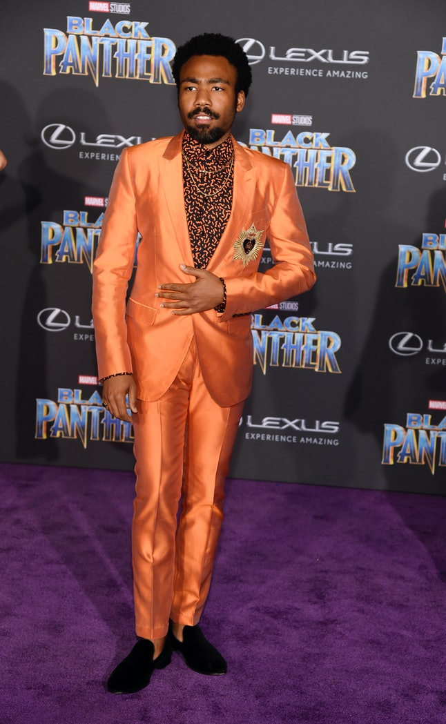 Donald Glover at the Los Angeles World Premiere of 'Black Panther'