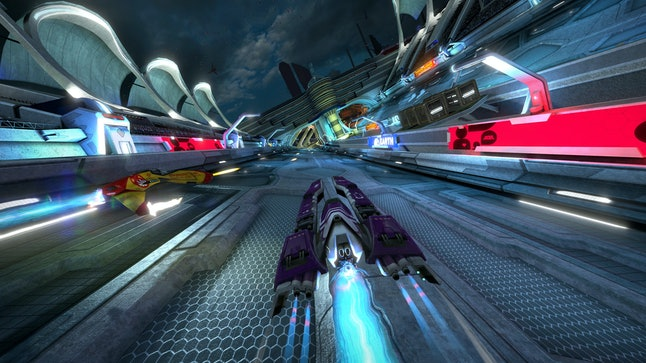 A race in 'WipEout Omega Collection.'