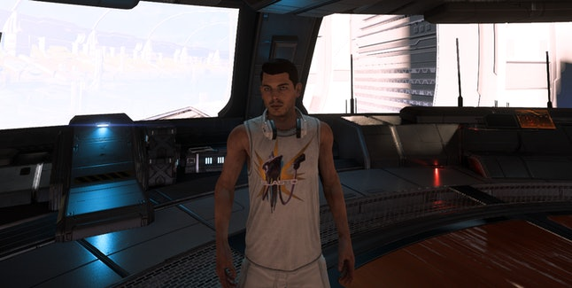 Ryder's new casual outfit in 'Mass Effect: Andromeda'