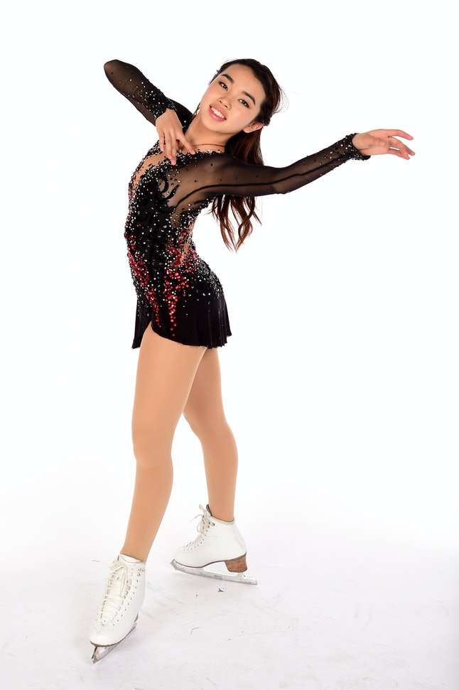 Figure skater Karen Chen poses for a portrait during the Team USA Pyeongchang 2018 Winter Olympics portraits.