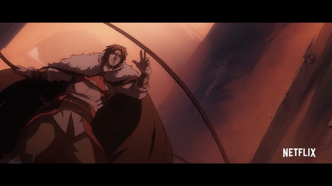 Trevor Belmont doing what he does best