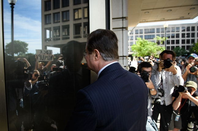 Paul Manafort arrives at a court hearing in June.