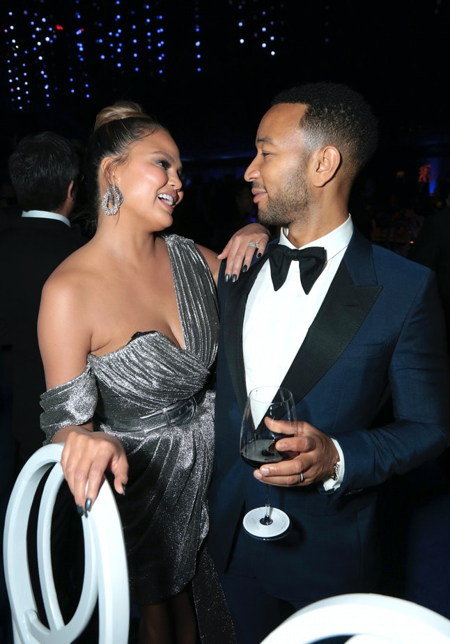 Chrissy Teigen, left, and John Legend attend the Governors Ball for the 70th Primetime Emmy Awards on Monday, Sept. 17, at the Microsoft Theater in Los Angeles.