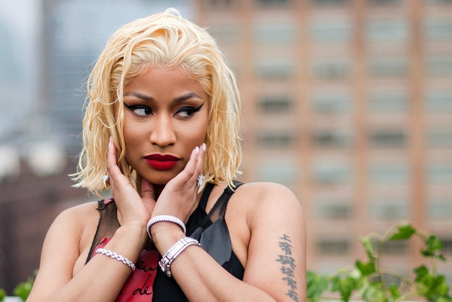 Nicki Minaj attends the Oscar de la Renta show during Fashion Week on Tuesday Sept. 11 in New York.