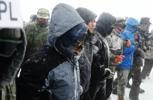 Dakota Access pipeline protesters weathered winter conditions and excessive force.