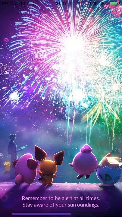 Pokemon Go First Partner Event New Year S Loading Screen Update