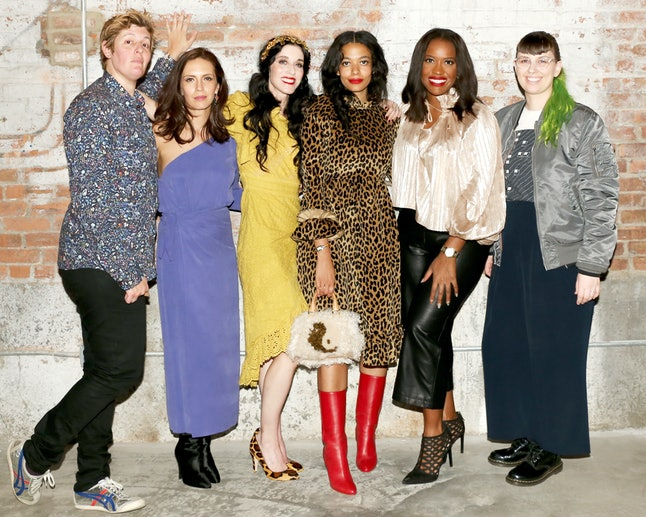 A few of the women at the Together We Rise event at NYFW
