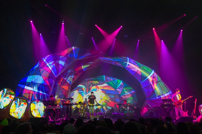 Animal Collective playing a 2013 show in Los Angeles.