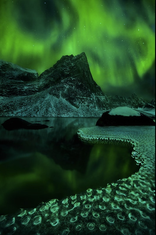 Northern Lights over the Tombstone Mountains