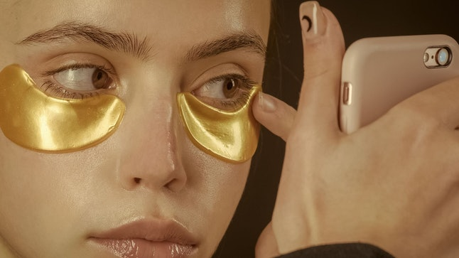 A collagen-infused under-eye mask