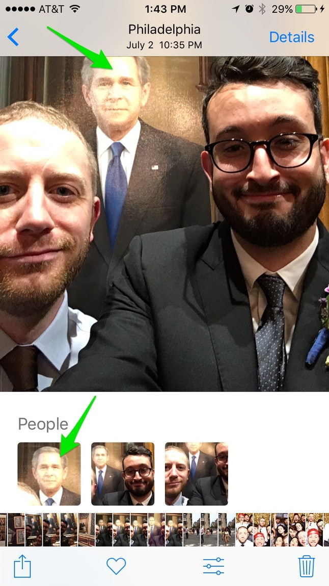 Group photos by People and Places in the updated Photos app
